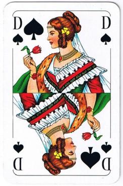 Pik Dame Kartenspiel