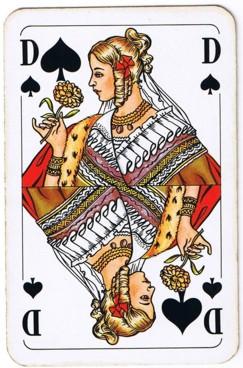 kartenspiel pik dame